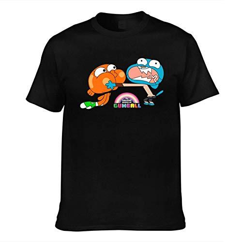 Camiseta de manga corta para hombre, diseño de The Amazing World of Gumball