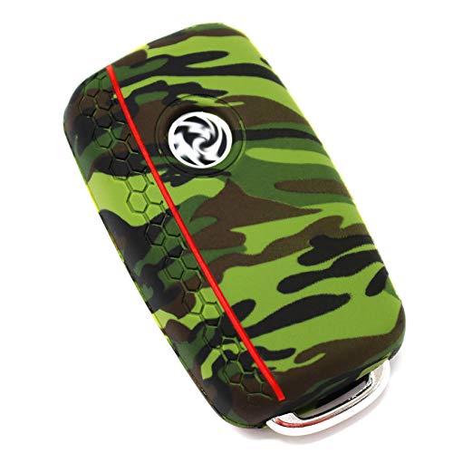 Schlüssel Hülle VA Wabenmuster für 3 Tasten Auto Schlüssel Silikon Cover von Finest-Folia (Camouflage)