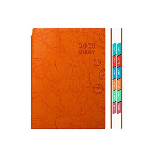 Agenda A5 Agenda 2020 Agenda semanal semanal agenda mensal caderno caderno de agenda Agenda gestão de projetos de tempo Finanças para escritório escolar vermelho, Orange Red, 21 * 15.5cm