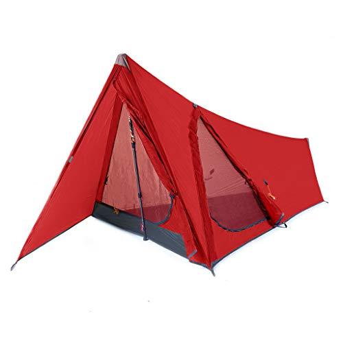 ZEROGRAM Zero1 Pathfinder MF 1 Person Zelt, Wandern, Rucksackreisen, leichtes Zelt, Monofila-Tango Rot