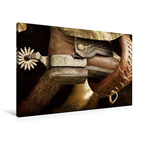 Premium textiel canvas 90 cm x 60 cm dwars, western | muurschildering, afbeelding op spieraam, kant-en-klaar beeld op echt canvas, canvasdruk: Amerikaans levensgevoel (CALVENDO Hobbys);CALVENDO Hobbys