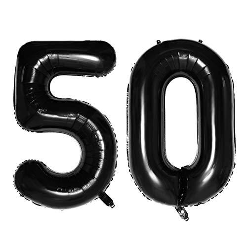 STOBOK Folienballons 50 Zahlenballon Heliumballon Luftballon 50. Geburtstag Jahrestag Goldene...