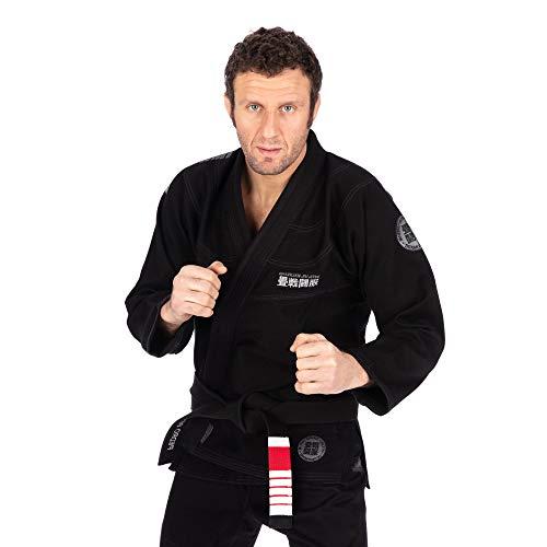 Tatami Fightwear Essential Gi 2.0 - Negro |A2| Gimnasio, Entrenamiento, Jiu Jitsu, Grappling, BJJ, MMA
