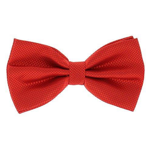 SHIPITNOW Pajarita para hombre, 20 colores, ideal para boda o fiesta rojo intenso Talla única