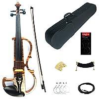 Kinglos4/4フルサイズ ソリッドウッド カラード プロ エレクトリック バイオリン キット (MWDS1902)