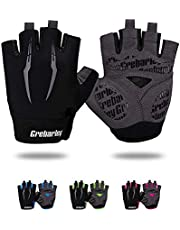 Grebarley Fietshandschoenen voor Mannen Vrouwen Fietshandschoenen MTB Handschoenen Mountainbike Handschoenen Anti-slip Schokabsorberend Ademend Half Vinger Fietshandschoenen Unisex