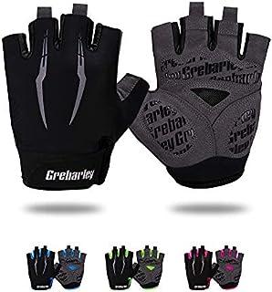 Grebarley Cycling Gloves for Men Women Bike Gloves MTB Gloves Mountain Bike Gloves Anti-slip Shock-absorbing Breathable Ha...
