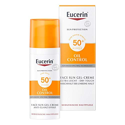 Eucerin Oil Control Face Sun Gel-Creme LSF 50+, 50 ml Creme