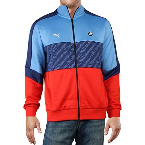 PUMA Men's BMW MMS T7 Track Jacket, Marina-Blueprint-High Risk Red, M