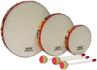 Remo RH3100-00 3-Piece Drum Set Multi-colored Rhythm Club Hand Drum Set, 6/8/10-Inch Diameters