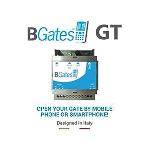 BGates-GT-Designed-in-Italy-100-Abre-portn-elctrico-gsm-Mediante-Llamada-telefnica-Gratuita-o-aplicacin-Business-Android-iOS-230-V-5060-Hz