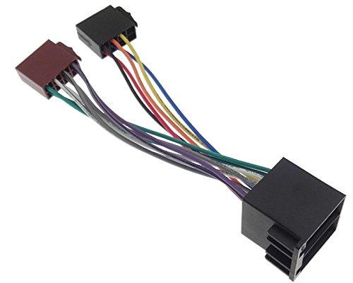 Adaptateur radio ISO - Allumage permanent et échangé - Compatible avec Audi, Seat, Skoda, Opel VAG