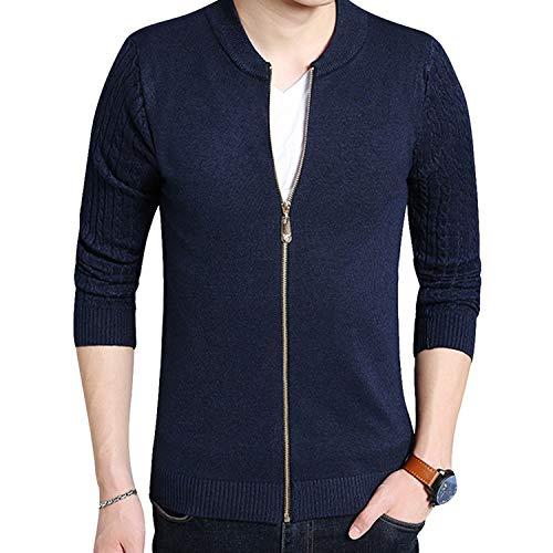 Nieuwe Heren Trui Rits Open Front Vest Mannelijke Knitwear Slim Trend Sweater