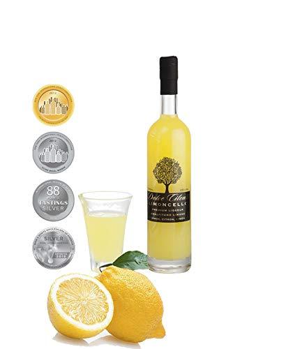 Limoncello Liqueur- Dolce Cilento Limoncello Liqueur de Citron Italienne (4 médailles) (100ml)