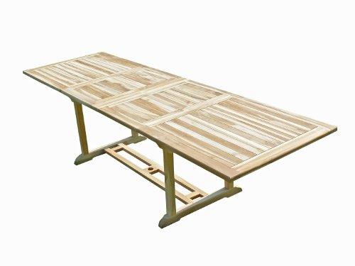Confort & Loisirs Table de Jardin en Teck BATAN 10/12 Places