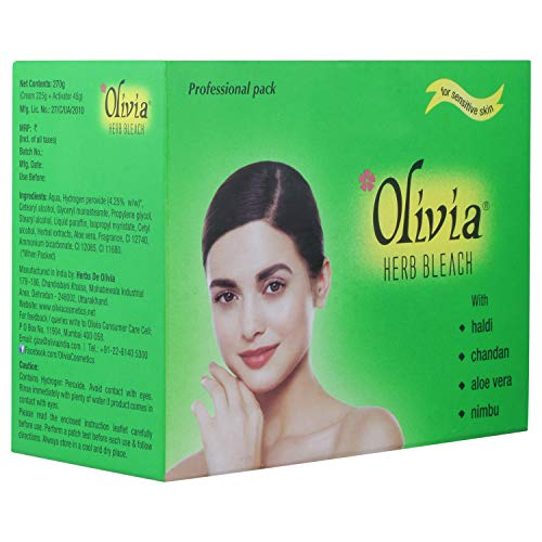 Olivia Herb Bleach For Sensitive Skin 270g With Haldi Chandan Aloe Vera Nimbu