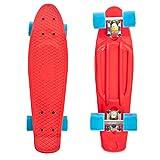 High Bounce Skateboards 22 Inch Complete Classic Skateboard - Retro Mini Cruiser for Kids Boys Girls, ABEC 7 Bearings and PU Wheels