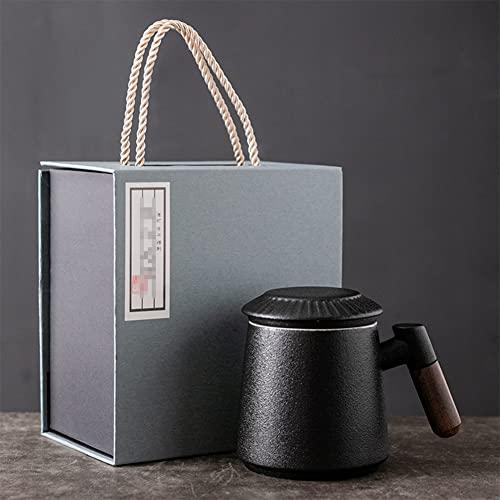 LLXJ Taza de infusión de Vidrio Reutilizable Eco Cups con infusor para Que los Amantes del té preparen té de Hojas Sueltas Año Nuevo