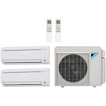 Daikin 24,000 Btu 18.9 Seer Multi Zone Mini Split Heat Pump System (AC and Heat) - 12K-12K