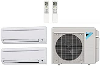 Daikin 24,000 Btu 18.9 Seer Multi Zone Mini Split Heat Pump System (AC and Heat) - 12K-12K