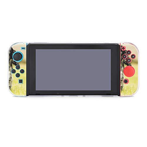 Funda para Nintendo Switch Negro y Blanco Perro Llevar Bola Roja Juego...