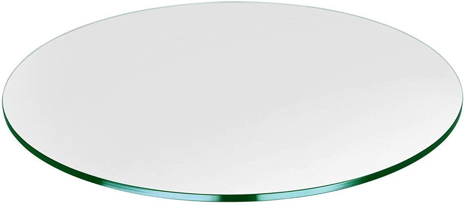 Bassett Glass   16  Round Tempered Glass Table Top - 1 2  Thick - Flat Polished Edge
