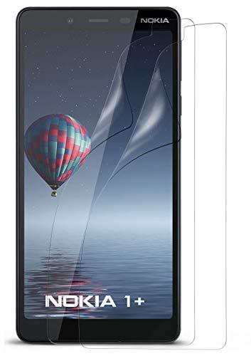 MoEx® Kristallklare HD Schutzfolie passend für Nokia 1 Plus   Premium Bildschirmfolie - Kratzfest & Fast unsichtbar - Ultra Klar