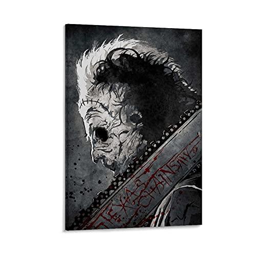 NDFGB Póster decorativo de la película del asesino de la motosierra, lienzo para la pared, póster de la sala de estar, 40 x 60 cm