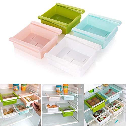 Eizurs Soporte para Rack de Almacenamiento Plástico Cocina Refrigerador Refrigerador Estante de Almacenamiento Congelador Estante Organizador Cocina Organización