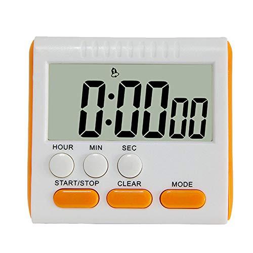Westeng Electrónico Temporizador de Cocina Magnético Temporizador Digital de Ejercicio Alarma Temporizada de Cuenta Regresiva size 7.95 * 7.3 * 2.9 CM (Naranja)
