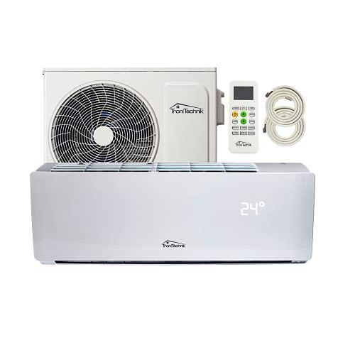 Tronitechnik Reykir Split Impianto Climatizzatore Inverter Splitter con sterilizzazione dell'aria UVC, raffreddamento ventilazione, deumidificazione, telecomando, controllo app WiFi (12000 BTU)