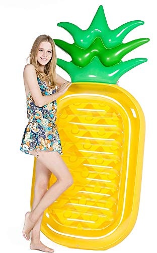 Jasonwell Riesige Ananas Aufblasbare Luftmatratze Pool Party Schwimmgerät Pool Spielzeug für Erwachsene & Kinder