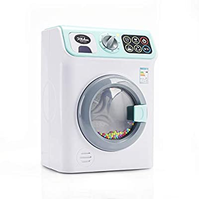 infunbebe Jeeves Jr. Washing Machine Electronic Toy Washer with Realistic Sounds and Functions, Pretend Role Play Appliance Toys for Toddlers from infunbebe