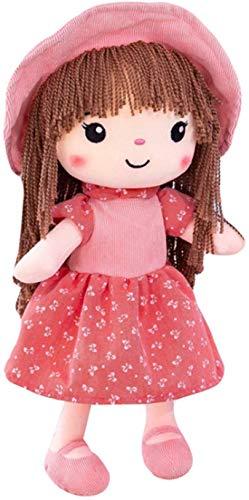 JINTN Mädchen Plüschpuppe Plüschtier Gefüllte Puppen Stoffpuppe Geschenk Baby Mädchen Weiche Puppe Mädchen Dekoration Begleiten Spielzeug für Weihnachtspuppe und Geburtstagegeschenk, 40CM