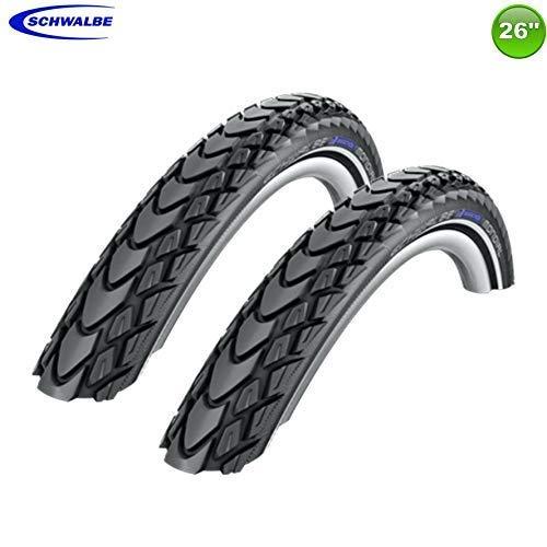 2 x Schwalbe Marathon Mondial Fahrrad Reifen Reflex 50-559