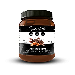Crema de Cacao y Avellanas Hiperproteica sin Azucares ni grasas saturadas - Sin aceite de palma - formato 800GR Increíble Sabor (Avellanas)