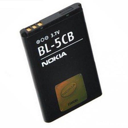 Batteria Originale Nokia Bl-5Cb Per 113, 1616, 1800, C1-02, 101, X2-05 800Mah Li-Ion Bulk