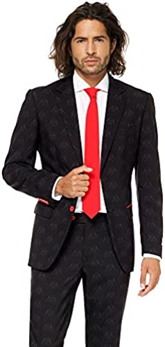Opposuits STAR WARSTM Suit - Official Darth VaderTM Costume Comes With Pants, Jacket and Tie, Darth VaderTM, 58