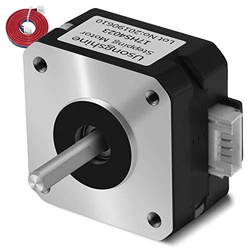 Usongshine Nema 17 Motor 3D Printer Parts Titanium Stepper Motor for Titan Extruder 3D Printer Extruder 424223mm for J-Kopf Bowden