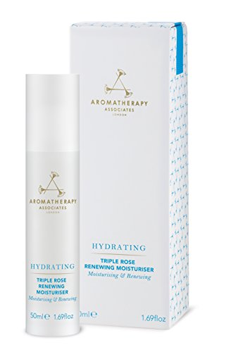 Aromatherapy Associates Hydrating Triple Rose Renewing Moisturizer, 1.69 Fl Oz. A luxurious moisturiser combining the essential oils from three unique roses from Morocco, Turkey and Bulgaria.