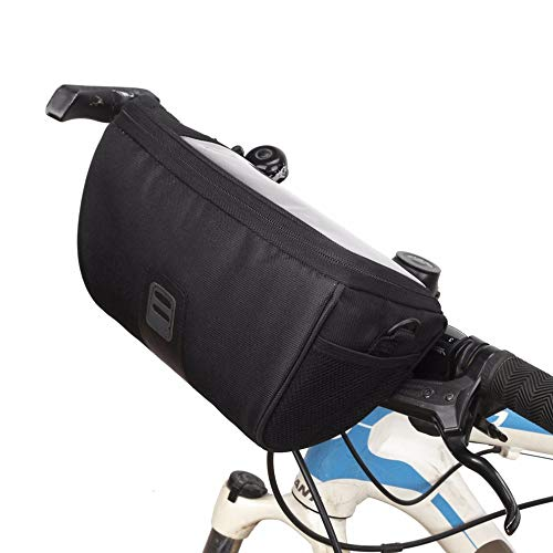 Bolsa para bicicleta con gran capacidad, resistente al agua, para manillar de lona, para exteriores, bicicleta