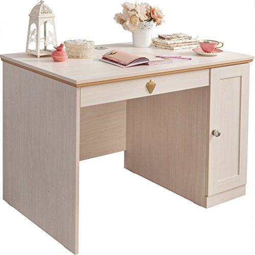 Froschkönig24 Cilek Flora Schreibtisch Kinderschreibtisch Tisch Kinderzimmer Birke hell