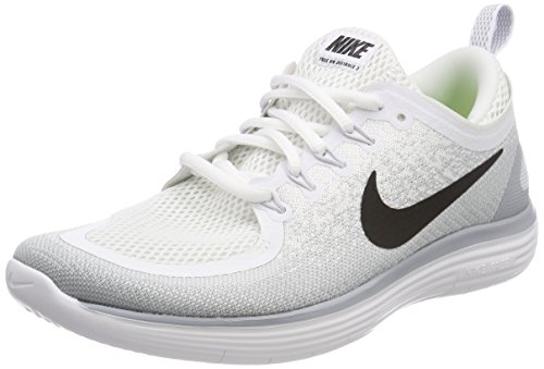 NIKE Men's Free Run Distance 2 Running Shoes (11 D(M) US, White/Black-Pure Platinum)