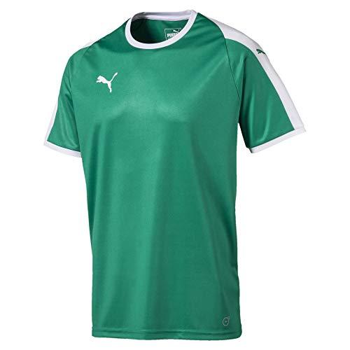 PUMA Men's Liga Jersey, Pepper Green/White, M