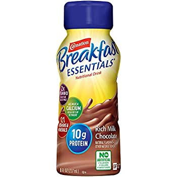 Carnation Breakfast Essentials Ready-to-Drink Rich Milk Chocolate 8 Ounce Bottle  Pack of 24   Packaging May Vary