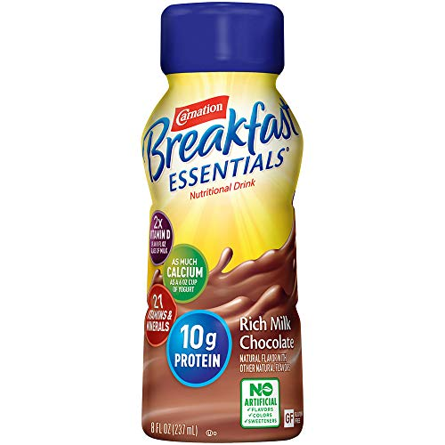 cheap Carnation Breakfast Essential Drink, Intense Milk Chocolate, 8 oz Bottle (24 Pack) …