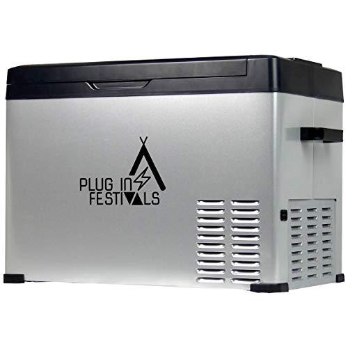 PLUG IN FESTIVALS ® Kompressor Kühlbox 12V 230V | [40 Liter] elektrische Kühlbox | Camping Kühlschrank | Kühlbox Auto oder LKW
