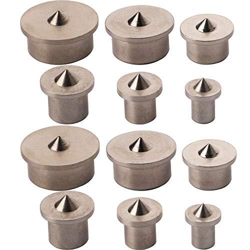 CESFONJER Holzdübel-Zentrierspitzen | dübelmarkierer | dübelspitzen, 12-tlg. Satz je 2 Stück 4/5/6/8/10/12 mm