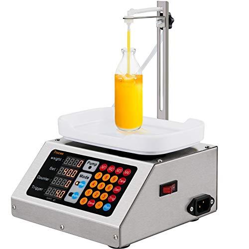 VEVOR Máquina de Llenado de Líquidos 0,5-100 g 90 ml/min Llenadora de Botellas 350 x 230 x 190 mm Máquina Llenadora de Líquido Eléctrica Potente para Llenar Líquidos en Farmacias/Cosméticos/Alimentos