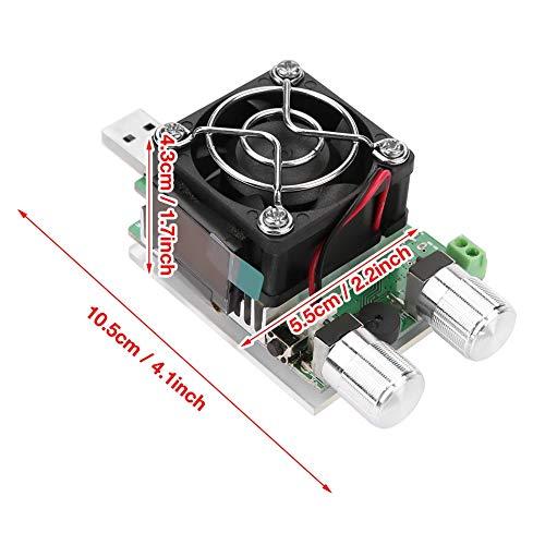 Carga de teste eletrônico, carga eletrônica, corrente constante de USB Corrente de teste de controle de corrente rápida e precisa 0.1-4.5A para bateria de teste de banco de potência